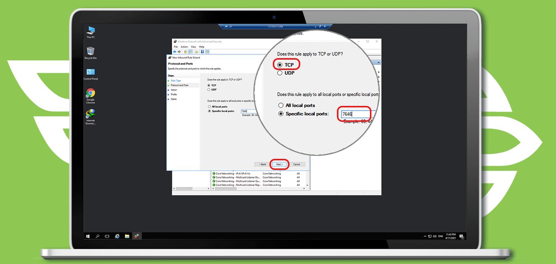 نحوه بازگشایی پورت در فایروال ویندوز سرور مجازی