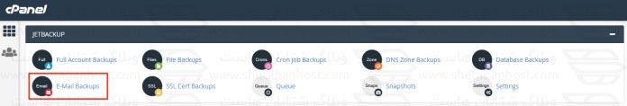 نحوه بک آپ گرفت از ایمیل ها از طریق JetBackup