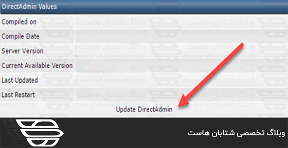 Update the direct admin to the latest version
