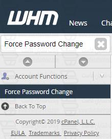 تغییر یکباره رمز عبور اکانت های cPanel