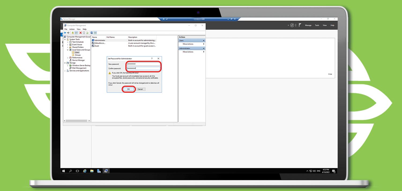 تغییر رمز عبور ویندوز سرور مجازی (VPS)