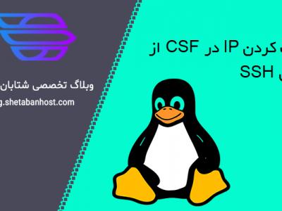 بلاک کردن IP در CSF از طریق SSH