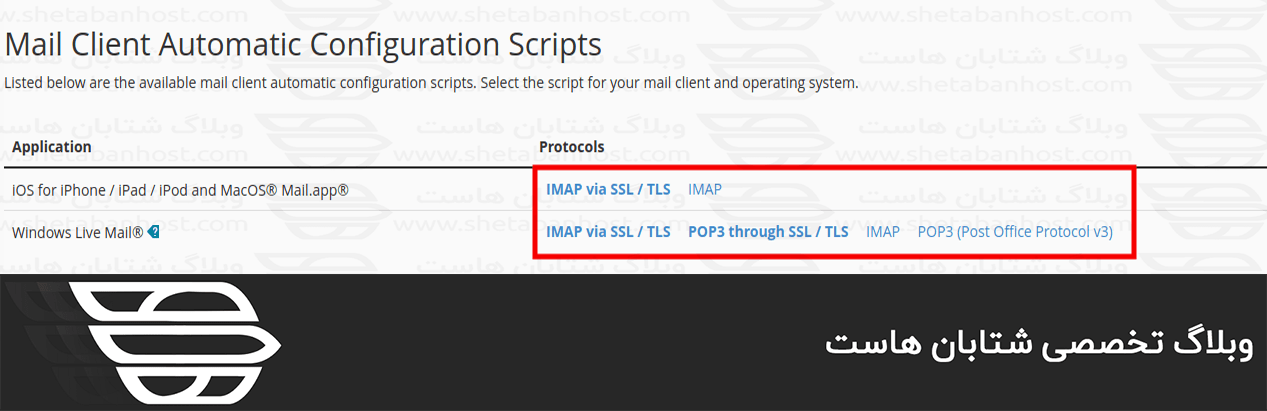 یافتن تنظیمات ایمیل در Webmail و cPanel