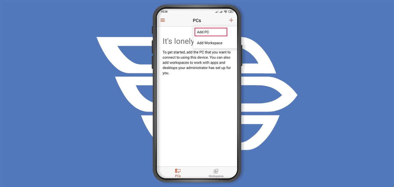 اتصال به سرور مجازی ویندوز با گوشی