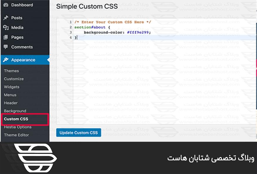 نحوه اضافه کردن CSS در وردپرس
