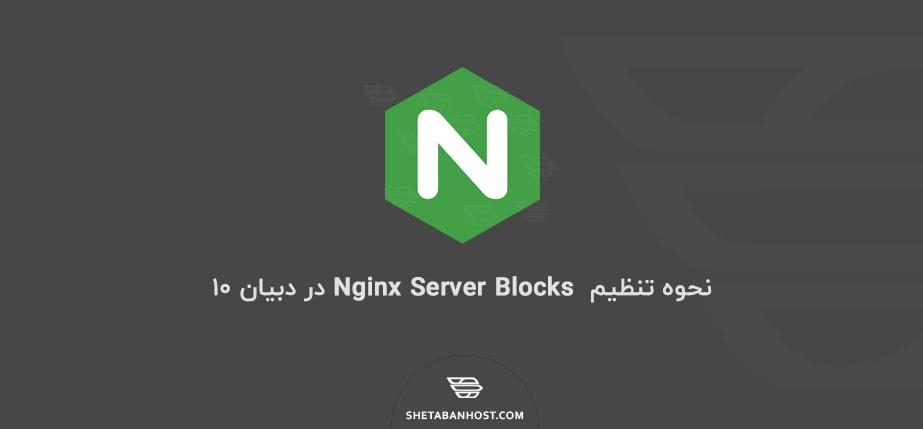 نحوه تنظیم  Nginx Server Blocks در دبیان ۱۰